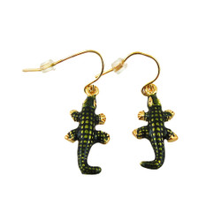 Crocodile Hook Earrings Enameled