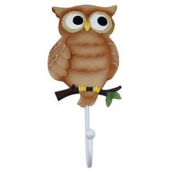 Tan Owl Wall Hook
