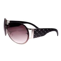 Rimless Sunglasses with Rhinestones Black