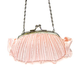 Pleated Evening Purse Pink