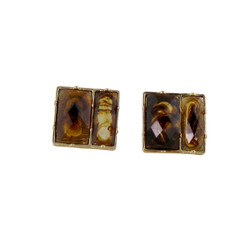 Square Deal Earrings Tortoise