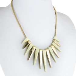 Spiked Necklace Ivory