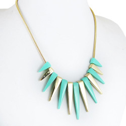 Spiked Necklace Seafoam Green