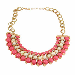 Egyptian Inspired Beaded Necklace Pink