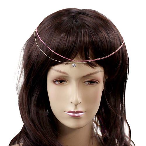 Classic Princess Jewel Headpiece Pink