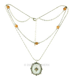Mother Of Pearl Layered Necklace
