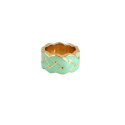 Braided Print Ring Seafoam Green