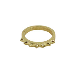 Finger Tip Spike Ring Gold Tone Size 3
