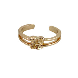 Finger Tip Ring knot Design Gold