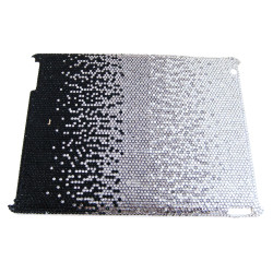 iPad Case Rhinestones Black Gradient