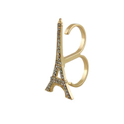 Eiffel Tower Double Ring Gold
