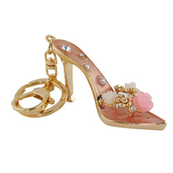Sparkly Heeled Sandal Gold and Pink