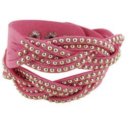 Stud Wrap Around Bracelet Pink