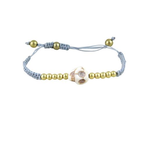 Rockabilly Skull Bracelet Blue