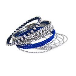 Bracelet Bangle Set of Twelve Blue