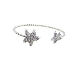 Starfish Cuff Bracelet Silver