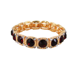 Majestic Jewels Crystal Bracelet Ruby Red