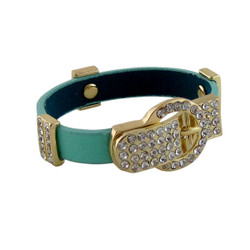 Dazzling Belt Buckle Bracelet Mint
