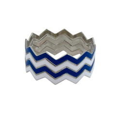 ZigZag Bracelet Blue and White