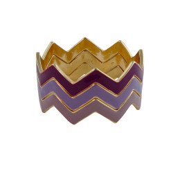 ZigZag Bracelet Purple and Plum