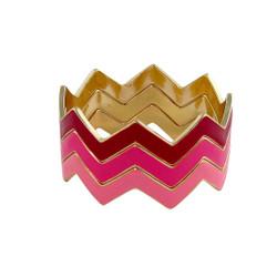 ZigZag Bracelet Multi Shades of Pink