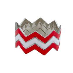ZigZag Bracelet Large Red and White