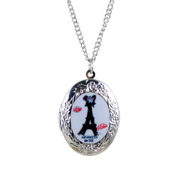 Eiffel Tower Locket Necklace