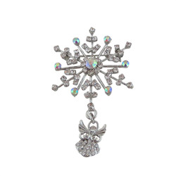 Angel Riding A Snowflake White
