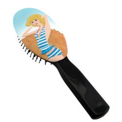 Beach Blonde Hair Brush Blue