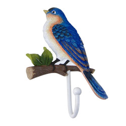 Blue House Finch Bird Wall Hook