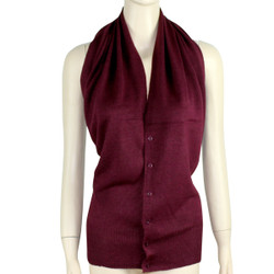 Multi Use Soft Scarf with Buttons Cherry