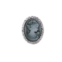 Victorian Cameo Ring Jeweled Frame Adjustable