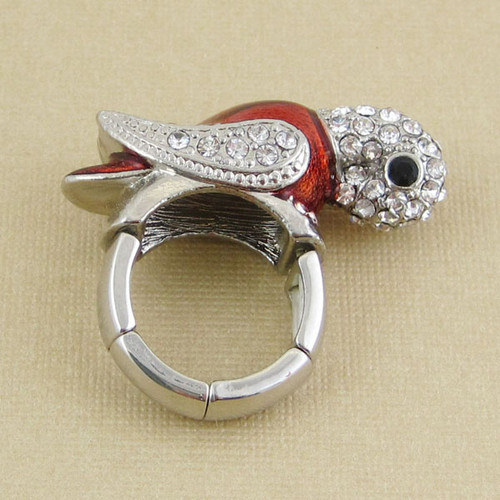 Bejeweled Parrot Stretch Ring