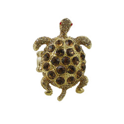 Bejeweled Turtle Stretch Ring