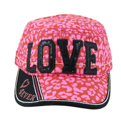 Pink and Black Love Cadet Cap