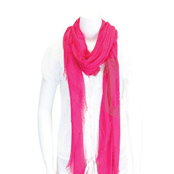 Fringed Scarf Hot Pink