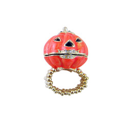 Keepsake Pumpkin Box Stretch Ring