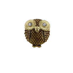 Bejeweled Chubby Owl Stretch Ring
