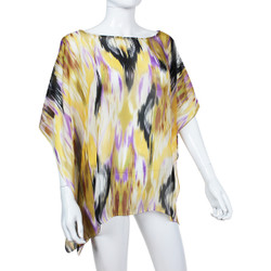 Beach Poncho Coverup Watercolor Print Lavender