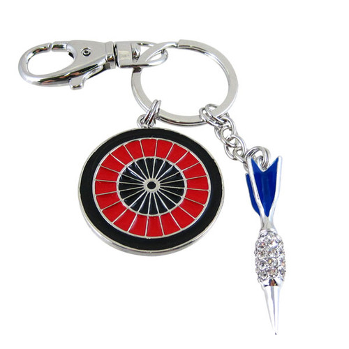 Dart Board with Dart Key Chain Purse Charm