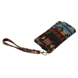 Tribal Pattern Cell Phone Wristlet Multicolored