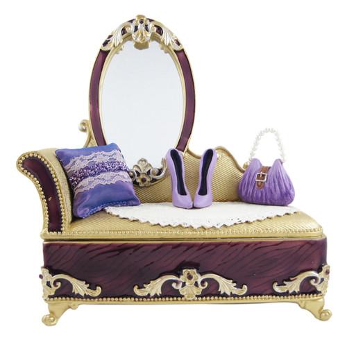 Victorian Dresser Jewelry Box Ring Organizer Lavender