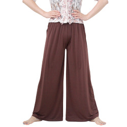 Solid Colored Palazzo Pant Chocolate Brown