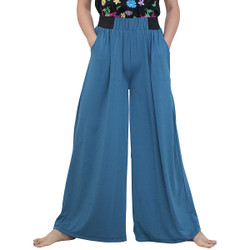Solid Colored Palazzo Pant Blue