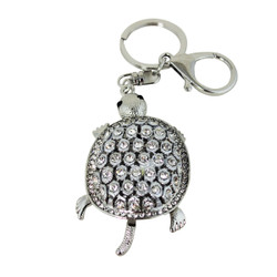 Sparkling Turtle Key Chain and Purse Charm