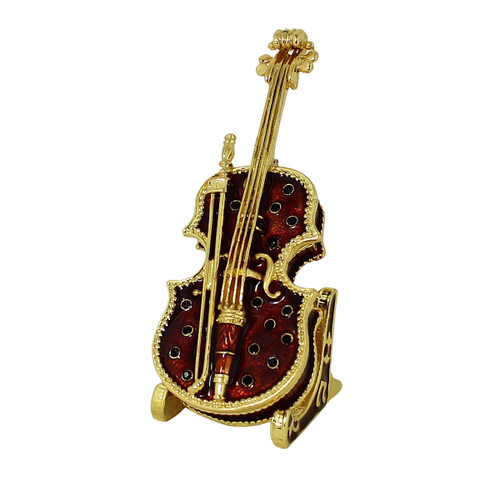 Beautiful Cello Trinket Box with Stand