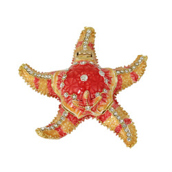 Starfish Trinket Box Bejeweled