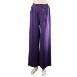 Solid Colored Palazzo Pant Purple