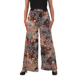 Eclectic Print Palazzo Pants