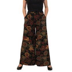 Vintage Looking Pailsey Print Palazzo Pants